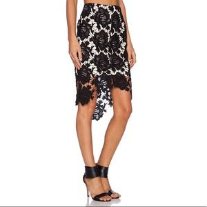 Keepsake The Label I Will Wait Lace Overlay Skirt